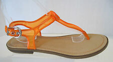 New Kenneth Cole Reaction Orange & Clear Station Thong Sandal Size 8 M