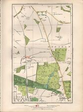 1936  LARGE SCALE MAP -  LONDON HADLEY WOOD COCKFOSTERS ENFIELD CHASE NEW BARNET