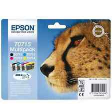 T0715 Epson Set Of 4 Inkjet Cartridges T0711 T0712 T0713 T0714 ORIGINAL GENUINE