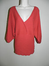 WILLI SMITH ORANGE DOLMAN BATWING BLOUSE MEDIUM WOMENS PRE-OWNED