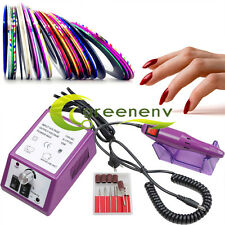 Professional Electric Nail Drill File Acrylic Manicure Pedicure Tool Machine Kit