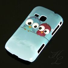 Samsung Galaxy Mini 2 S6500 Hard Case Handy Hülle Etui zwei Eule Owl Schale
