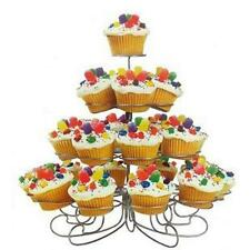 4 Tiers 23Cups Stainless Steel Cupcake Stand Wedding Birthday Cake Display Tower