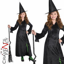 Child Long Witch Dress Halloween Horror Girls Fancy Dress Costume Outfit New