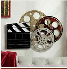 Large Theater Room Metal Plaque.Your space will be ready. lights,Camera Action
