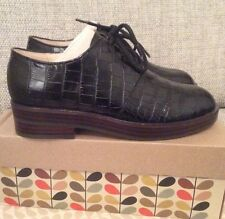 Orla KIely Clarks, Agatha Mock Croc Black Leather Shoes In Size 3,  EUR 35.5