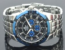 CASIO EDIFICE Chronograph 100M EF540D-1A2 EF-540D-1A2 Black Navy Free Ship!
