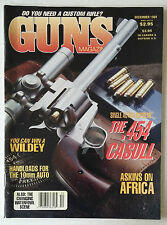WEAPONS GUNS MAGAZINE 1989 DECEMBER .454 CASULL HANDGUNS FIRE ARMS RIFLES