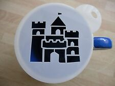 Laser cut castle fort design coffee and craft stencil