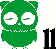 "Owl vinyl sticker decal car truck window glass wall hoot wise bumper 5"" X 6"" #11"