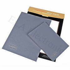 "MENNON L 18% grey Gray Card size 10x8"" 8x6"" set for White Color Balance Exposure"