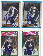 1989 OPC #274 Mark Osborne Toronto Maple Leafs Autographed Hockey Card