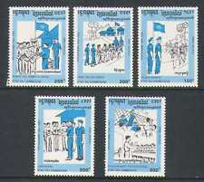 Cambodia 1993 UN/Soldiers/Sport/Military 5v set  n21006