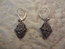 VINTAGE STERLING SILVER EARRINGS WITH ALL STONES IN PLACE