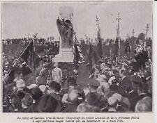 1928  --  BELGIQUE CAMP DE CASTEAU  HOMMAGE DE LEOPOLD ET ASTRID AUX PATRIOTES