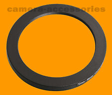 72mm to 58mm 72-58 Stepping Step Down Lens Filter Ring Adapter 72-58mm 72mm-58mm