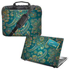 "TaylorHe da 15,6 ""LAPTOP SHOULDER BAG MANICI TRACOLLA E PELLE PERSONALIZZATA Bundle"
