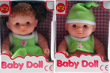 Set Of 2 Small Dolly Toys In Gift Box - Green Boy / Girl Doll