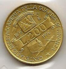 ITALY, 200 Lira 1996 Customs Service Acadamy Cat.No.184