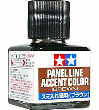 TAMIYA Panel Line Accent Color Brown For Plastic Model Kits #87132