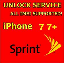 Sprint USA PREMIUM Official Unlock Service for IPhone 7 7+ All Imei