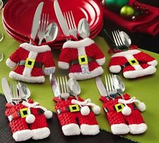 Christmas Decoration Cutlery Covers Festival Atmosphere Ornament Kitchen Supply