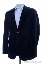 POLO RALPH LAUREN Midnight Blue Velvet SMOKING JAKCET Blazer Sport Coat - 42 R