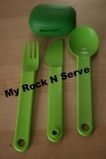Tupperware Snap Together Silverware Spoon/ Fork Set  New