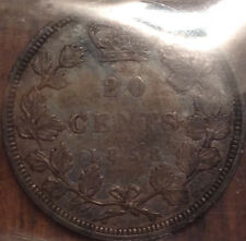 1858 CANADA SILVER 20 CENTS CERTIFIED VF-30 BY ICCS HAVE A LOOK !