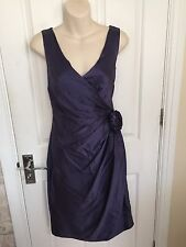 WHISTLES STUNNING SATIN COCKTAIL DRESS SZ 10 WORN ONCE GORGEOUS CONDITION