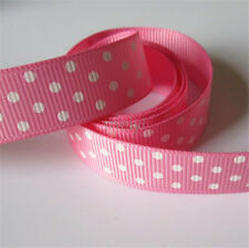 Polka Dot Grosgrain Ribbon 16mm x 10m Various Colours Bridal Wedding Cake Decor