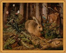 A Hare in the Forest Hans Hoffmann Hase Wald Tiere Natur Löwenzahn B A1 02198
