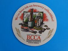 Collectible Beer Bar Coaster    BREWERY Collectibles Club of America = BCCA.com
