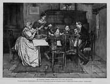 BOB CRATCHIT CHRISTMAS DINNER ANTIQUE ENGRAVING CHARLES DICKEN'S CHRISTMAS CAROL