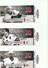 OTTAWA SENATORS VS WASHINGTON CAPITALS FULL TICKET STUB 12/7/11 OVECHKIN GOAL