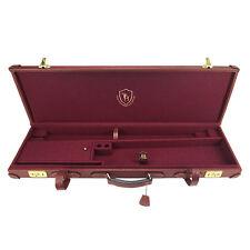 Tourbon Gun Hard Case Shotgun Box Safe Vintage Antique Genuine Leather Storage