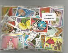 Lot 500 timbres d'Afrique