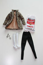 Mattel Barbie Andy Warhol Campbell's Soup Can Outfit Ensemble 2016