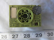 Multicomat CT2-E20/H Time Cube Relay, Used