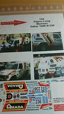 Decals 1/43 réf 744 Mitsubishi Pajero Marreau Dakar 1990 N 236