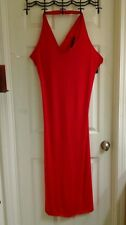 Sexy Red Rocawear maxi Criss cross dress, NWT $62 women's size large