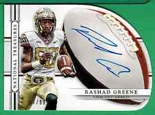 2015 PANINI NATIONAL TREASURES RASHAD GREENE AUTO /99 FLORIDA STATE