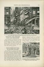 1918 Magazine Article Gas Explosions in Cincinnati Ohio OH Destruction Fire