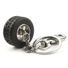 Silver Auto Tire Keychain Ring Keyring Key Fob Funny Gift hot sale UK