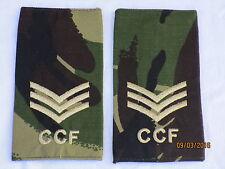 Rangschlaufen:  Sergeant , CCF,DPM, Combined Cadet Force,Paar, 60x115mm