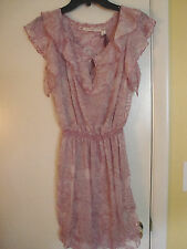 New Womens Chelsea & Violet  Roller Girl  Sheer Lined Dress Size Large
