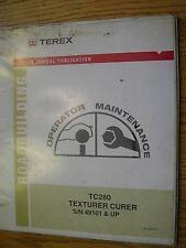Terex CMI TC 140 280 OPERATION MAINTENANCE MANUAL Texturer CONCRETE Curer GUIDE