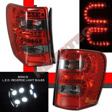 99-04 Jeep Grand Cherokee LED Tail Lights Red Smoke w LED Reverse 1 Pair