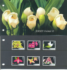 Jersey Orchids set 2008 in Presentation pack mnh-Flowers-Plants