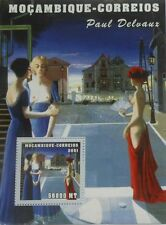 Paintings of Paul Delvaux painting Mozambique s/s Mi. 2151 / Scott 1491 #MOZ1229
